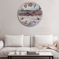 "23.6"" Round Rustic Wall Clock"