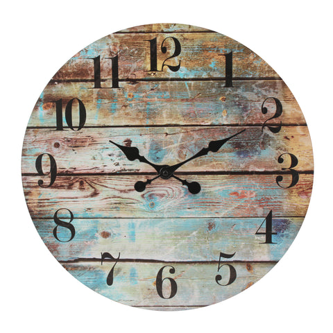 "18"" Round Rustic Wall Clock"