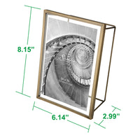 5x7 Wire Frame - Brushed Antique Brass