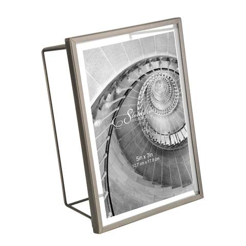 5x7 Wire Frame - Brushed Gunmetal
