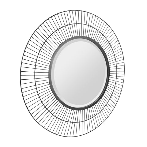 "28"" Decorative Modern Round Metal Wire Wall Mirror"