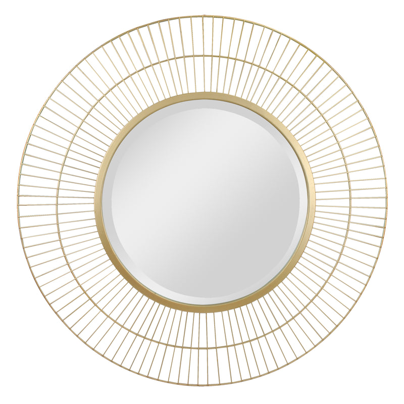 "Stonebriar 28"" Decorative Modern Round Metal Wire Mirror for Wall"