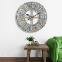 Rustic Deconstructed Clock with Layered Numbers