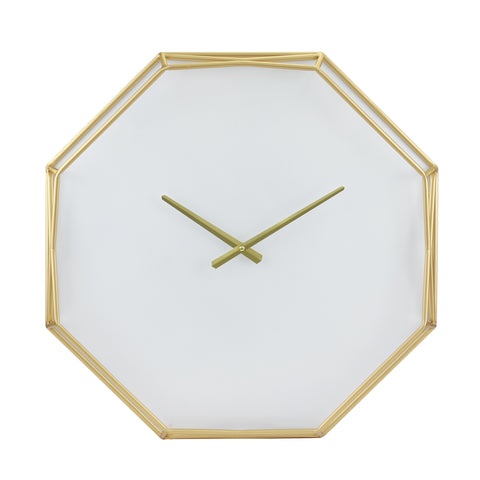 MDF Octagon Open Face White with Gold
