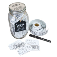 Top Shelf House Warming Wish Jar With 100 Tickets, Pen, and Decorative Lid