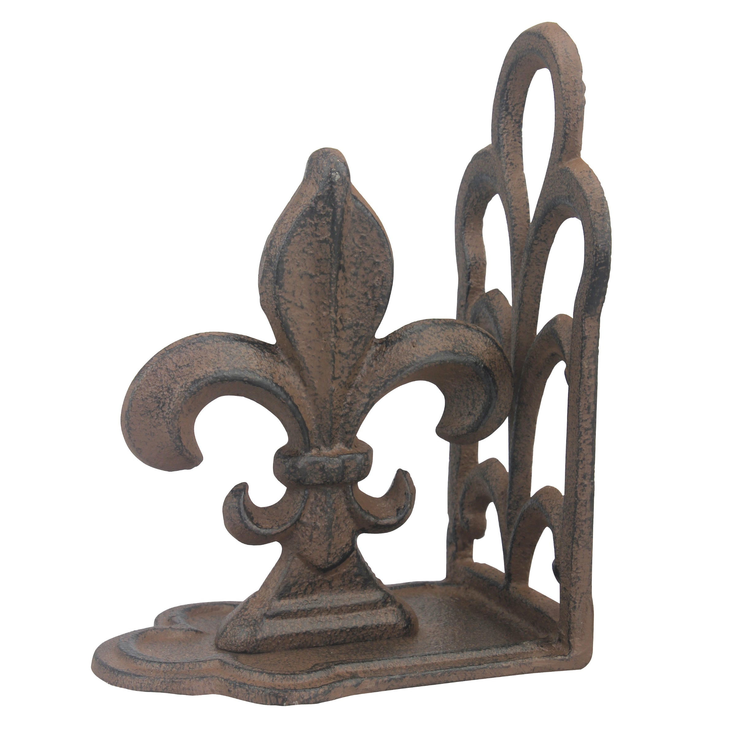 Cast Iron Fluer de Lis Bookends | Stonebriar Collection