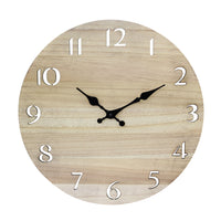 Contemporary Wood Wall Clock | Stonebriar Collection