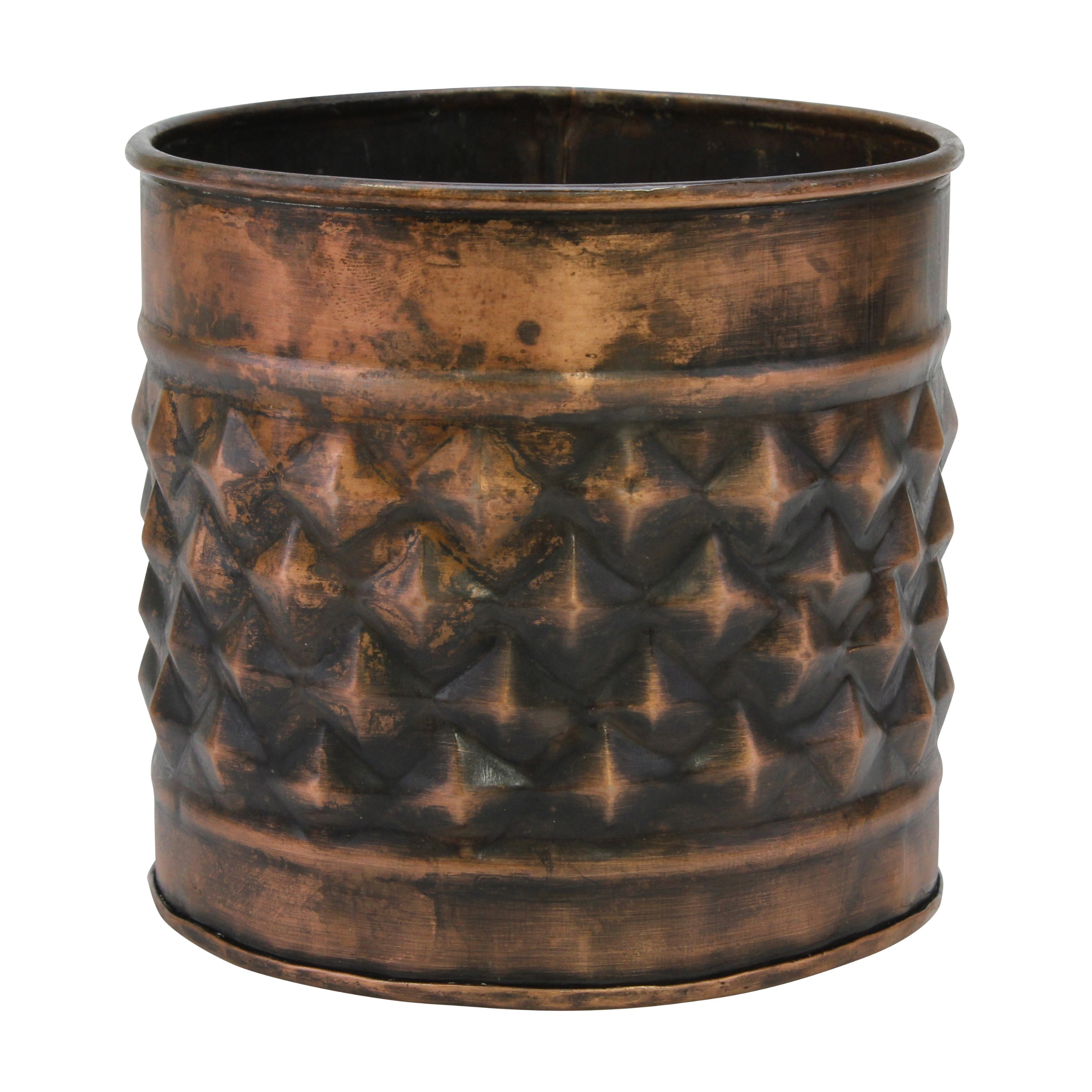 Copper Galvanized Metal Planters | Stonebriar Collection