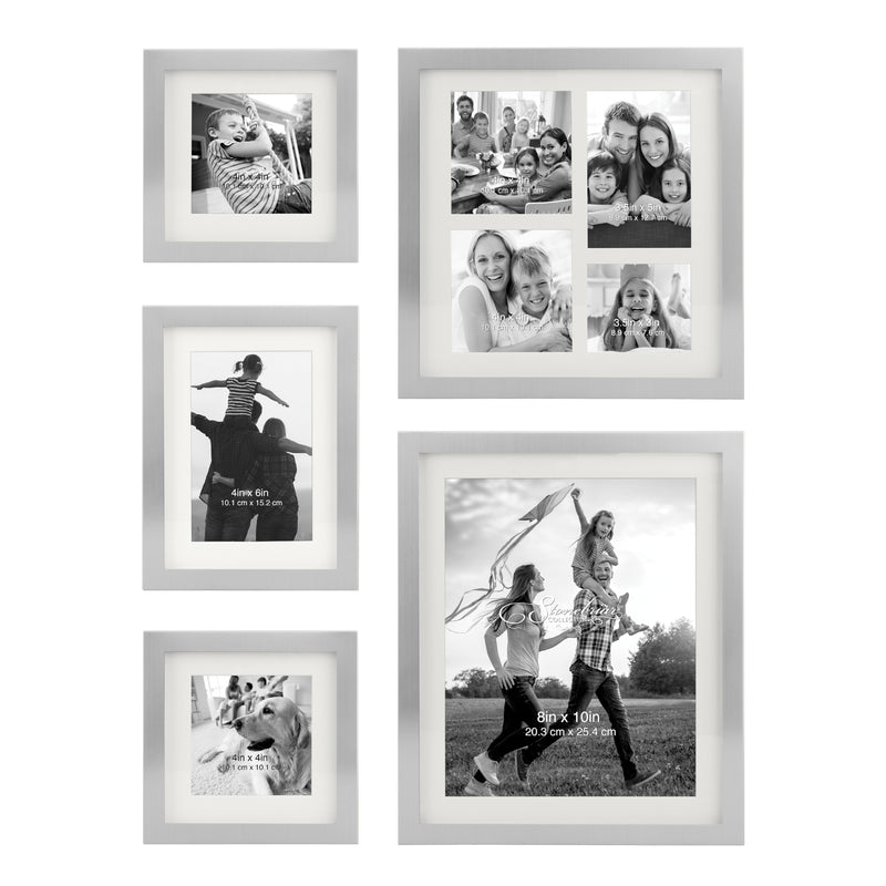5 Piece Silver Picture Frames | Gallery Wall Inspiration | Stonebriar Collection