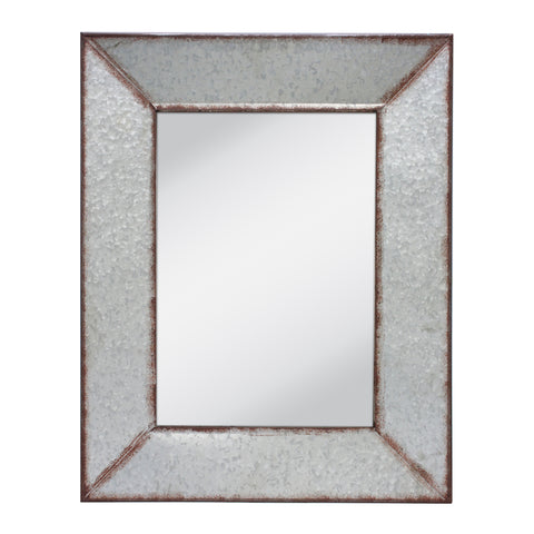 Galvanized Metal Framed Mirror | Stonebriar Collection