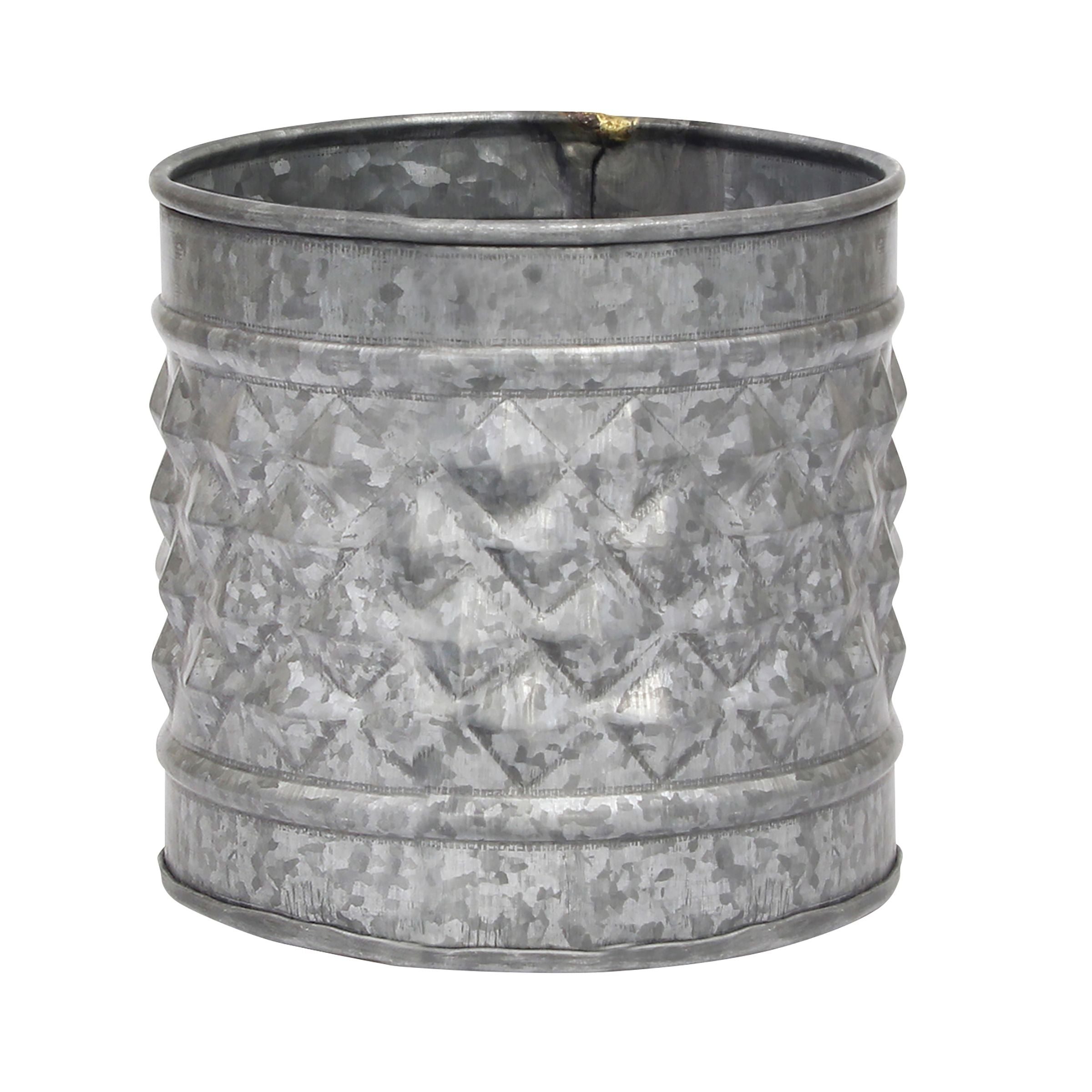 Galvanized Metal Planters | Stonebriar Collection