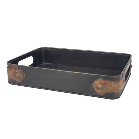 Industrial Metal Tray | Stonebriar Collection