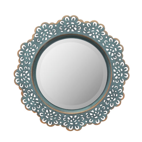 Round Lace Metal Wall Mirror | Stonebriar Collection