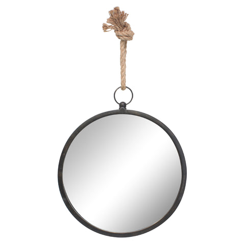 Large Round Metal Mirror for Wall | Stonebriar Collection