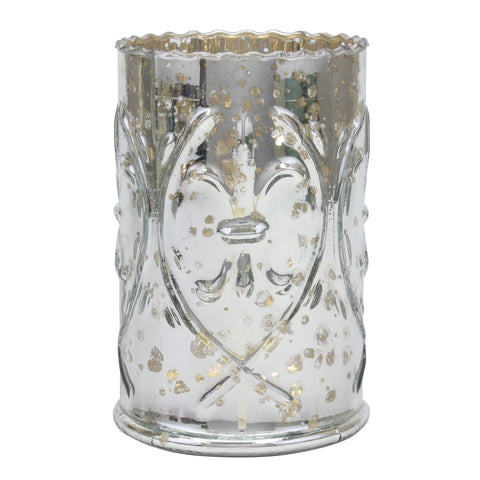 Silver Mercury Glass Votive Candle Holder | Stonebriar Collection