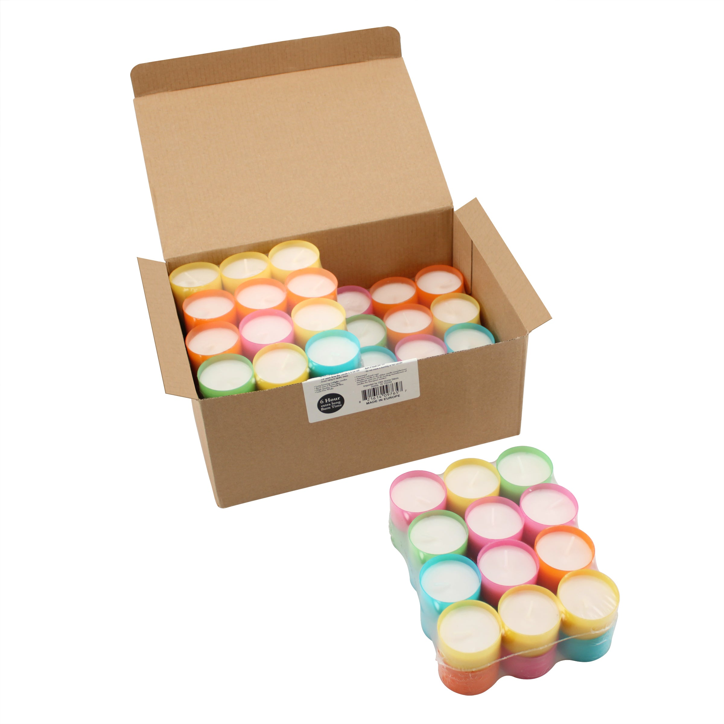 Multicolor Tealight Candles Bulk | Stonebriar Collection