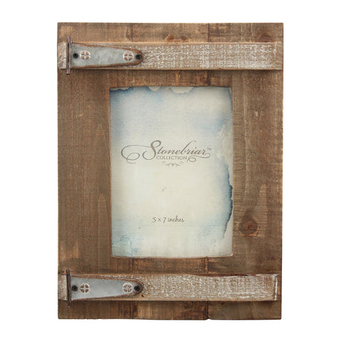 Rustic Wood Barn Door Picture Frame | Farmhouse Home Decor | Stonebriar Collection