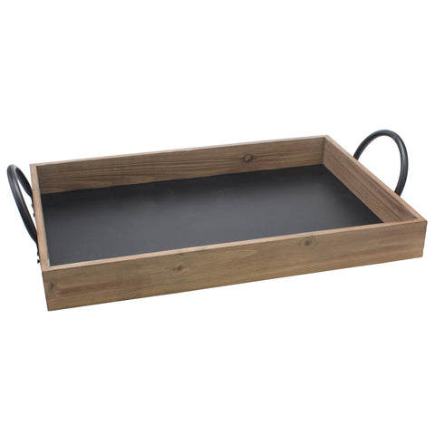 Wood Serving Tray with Chalkboard Base | Farmhouse Decor | Stonebriar Collection