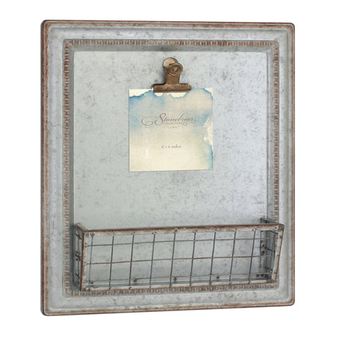 Rustic Galvanized Metal Magnetic Memo Board | Stonebriar Collection