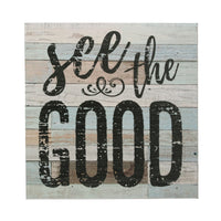 """See the Good"" Wood Wall Art 