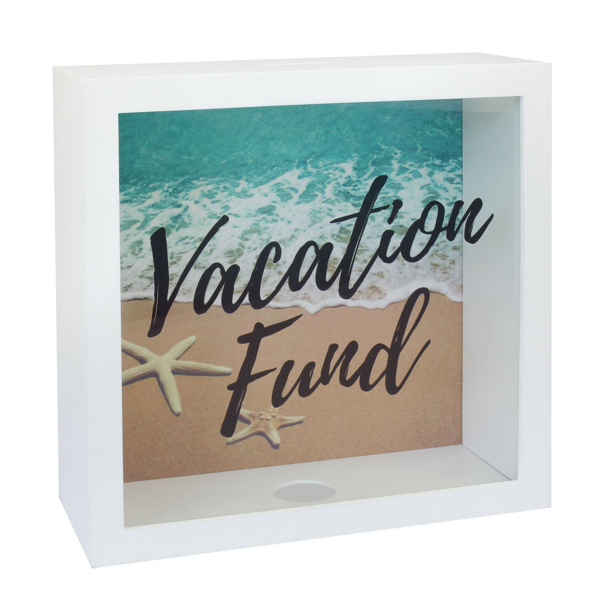 White Vacation Fund Box | Stonebriar Collection