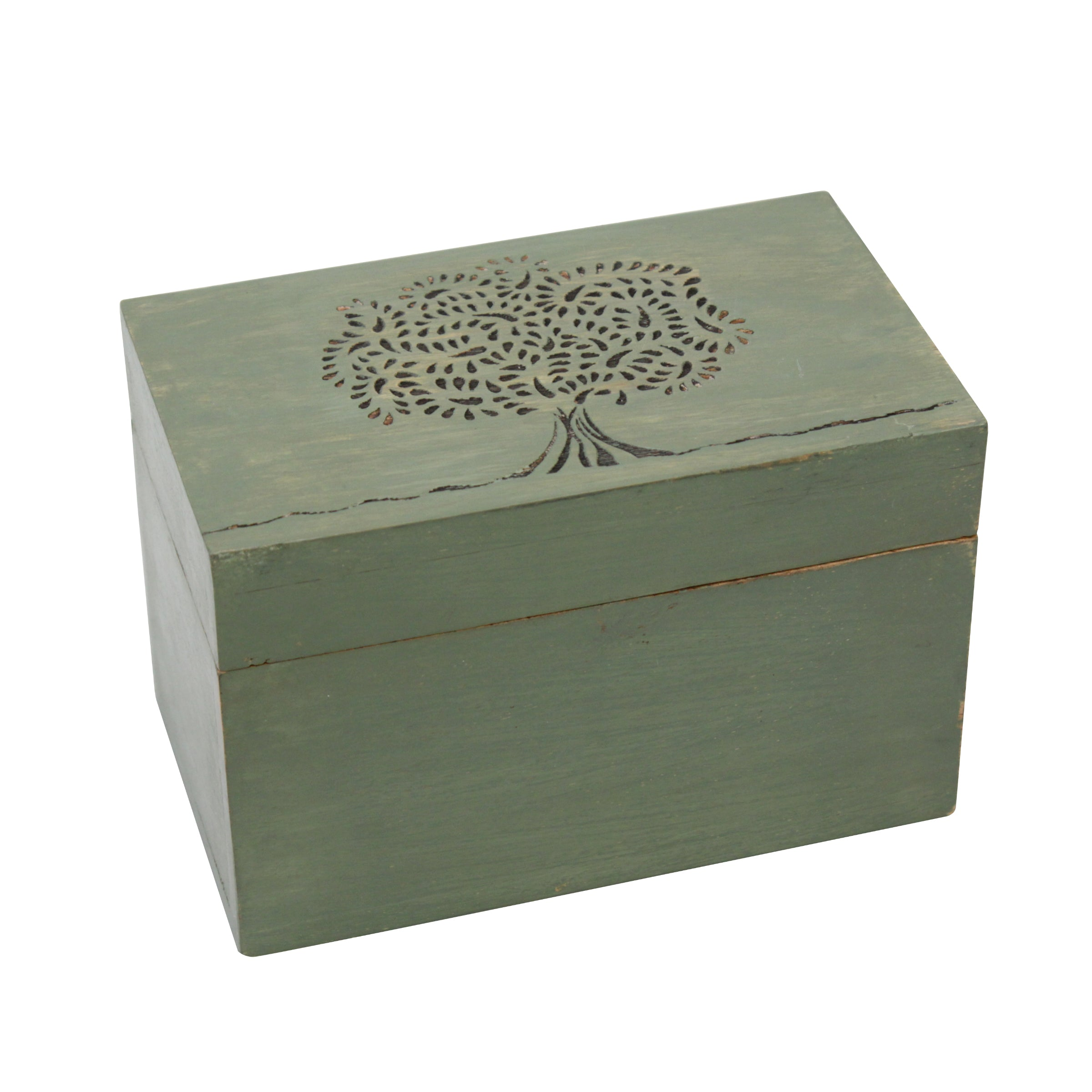 Wooden Tea Box | Containers and Storage | Stonebriar Collection