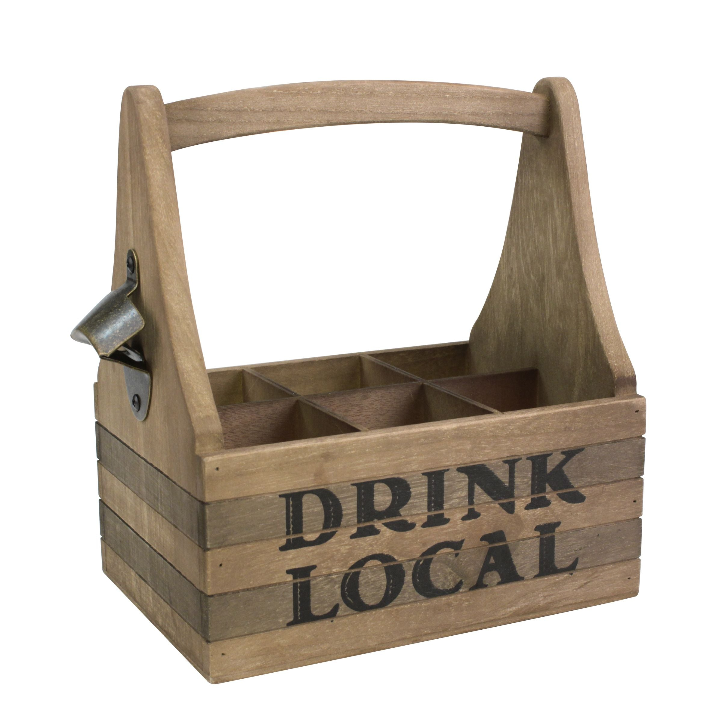 Wood Drink Caddy | Stonebriar Collection