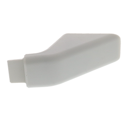 WB7X7189 White Handle Endcap