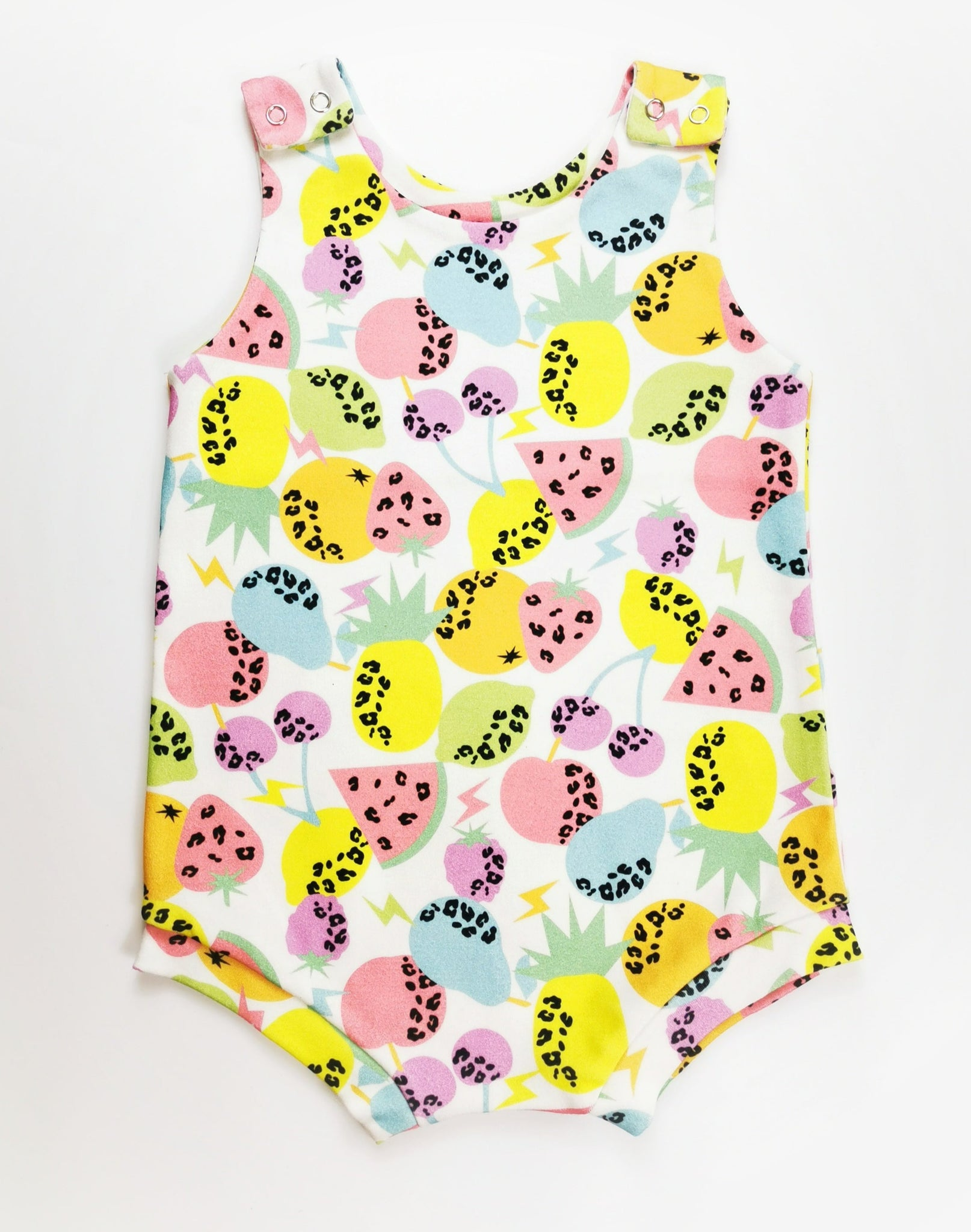 Baby & Toddler Organic Short Romper / Tropical Fruit