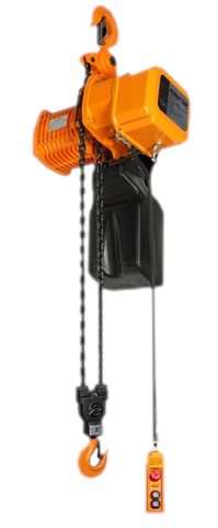 Accolift CLH Electric Chain Hoist | Push / Pull Trolley | 1 Ton Capacity | Single Phase Inverter Control | Speed 27/9 fpm