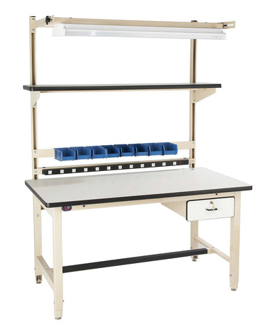 "Proline Bench in a box Model D Part # BIB4 72""L x 30""D with ESD Laminate work surface Anti-Static Workbench"