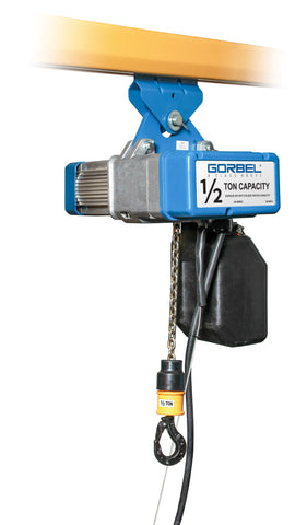 GORBEL GS SERIES ELECTRIC CHAIN HOIST | 1/2 TON | LIFT SPEED 16 FPM | 115V 3PH | 10 FT. LIFT