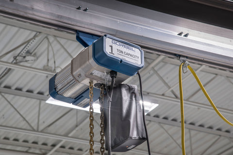 GORBEL GS SERIES ELECTRIC CHAIN HOIST | 1 TON | LIFT SPEED 16 FPM | 230V 3PH | 10 FT. LIFT
