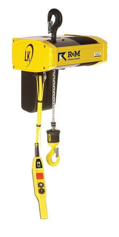 R&M LK Series Hoist | LK02 | 1/4 Ton | 2 Speed 32/8 | Hook Suspended