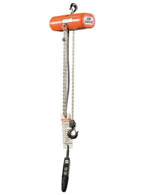 Lodestar Electric Chain Hoist - 230/460-3-60 - Hook Mount 1/2 Ton
