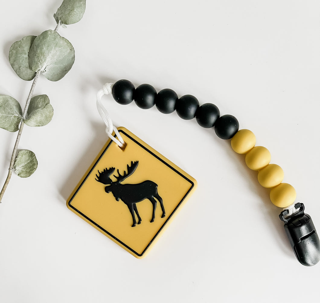 The CAUTION MOOSE Teether