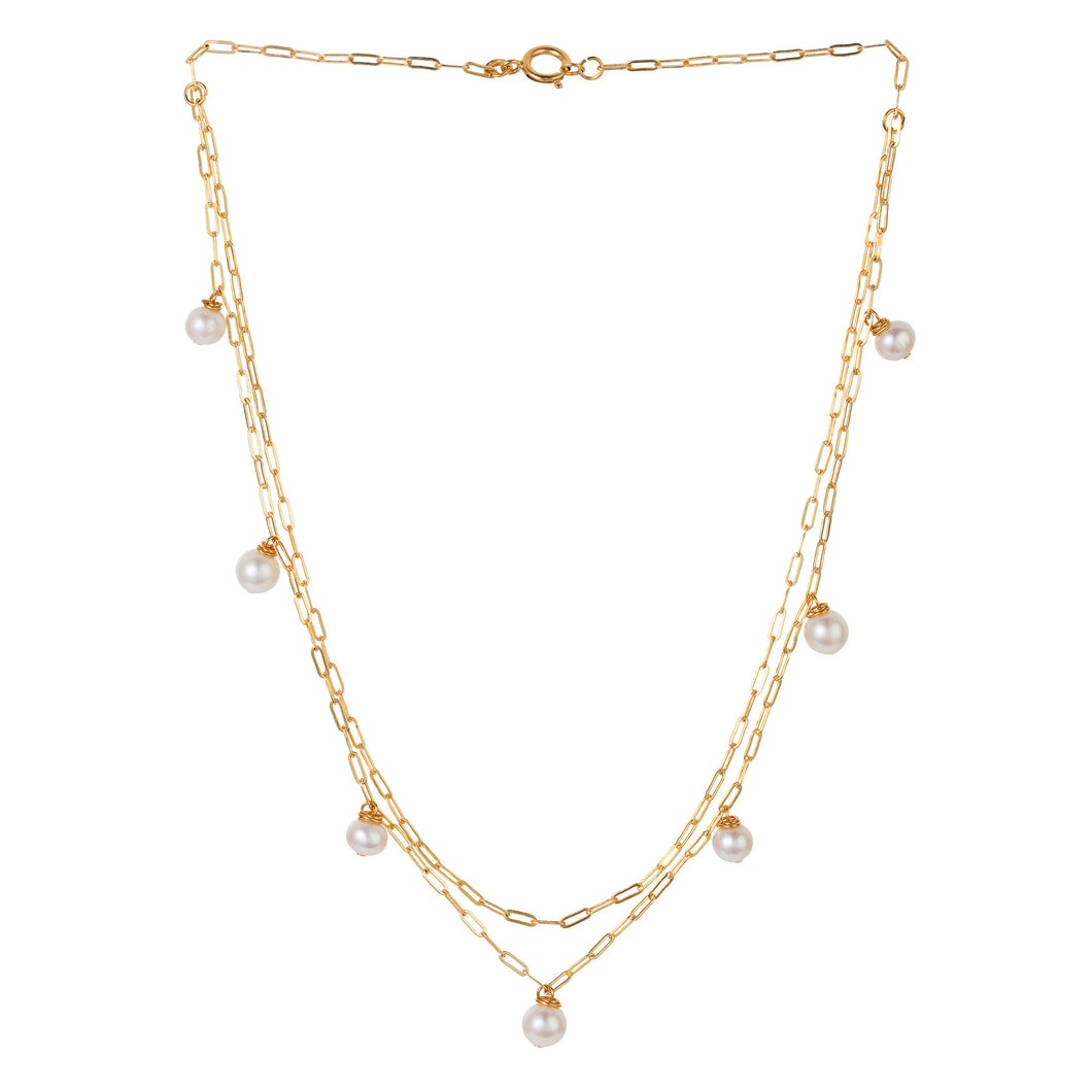 Signature Pearl Choker Drop Necklace
