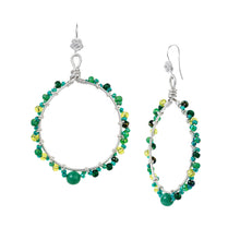 Load image into Gallery viewer, OBIUTO Hoops in Peridot Green