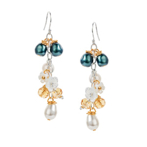 Bisa Waterfall Earrings in Emerald
