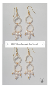 OBIUTO Dangle Earrings in Gold Vermeil
