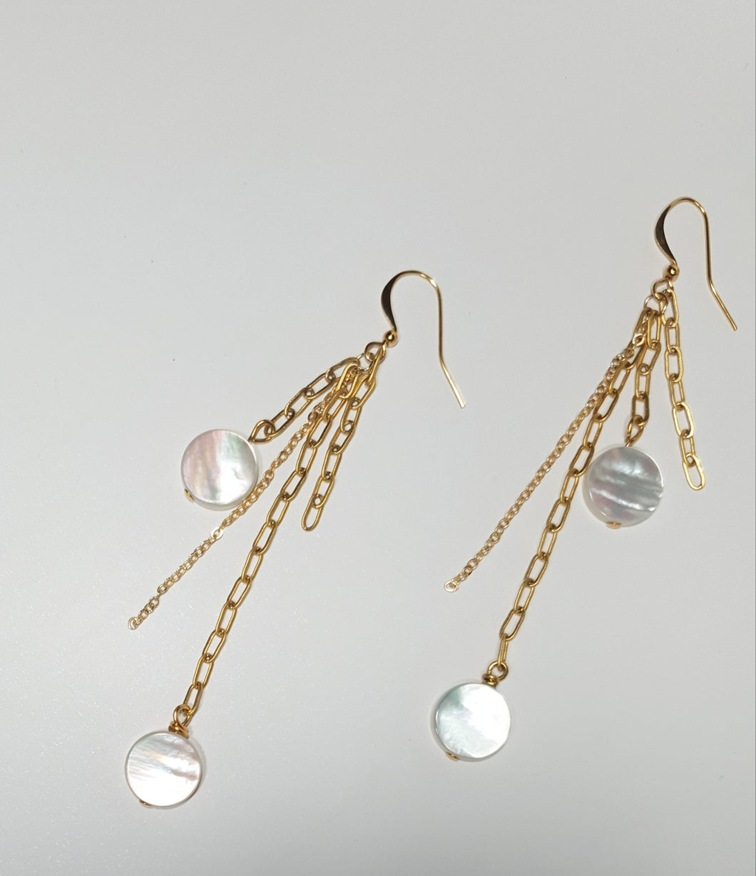 The 'GALAXY' Drop Mother of Pearl Earrings