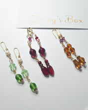 Load image into Gallery viewer, 'Fervent Ruby Drop' Earrings