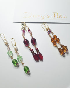 'Fervent Ruby Drop' Earrings