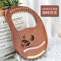 10/16 String Wood Lined Lyre Harp