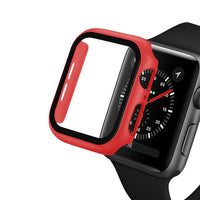 Watch Cover Case for Apple Watch 5/4 40MM/44MM PC Bumper with Glass Protector Film for iwatch Series 3/2 38 42MM  accessories