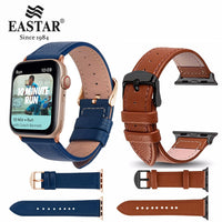 Eastar 3 Color Hot Sell Leather Watchband for Apple Watch