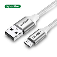 Ugreen Micro USB Cable 3A Nylon Fast Charge USB Data Cable for Samsung Xiaomi LG Tablet Android Mobile Phone USB Charging Cord