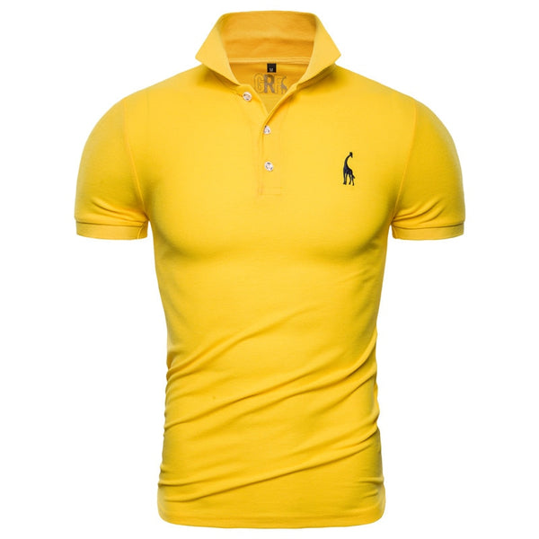 New Polo Shirt Men Solid Casual Cotton