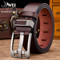 [DWTS]men belt male high quality leather belt men male genuine leather strap luxury pin buckle fancy vintage jeans free shipping