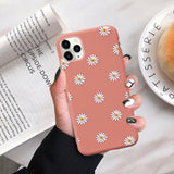 moskado Art Floral Daisy Phone Case For iPhone 11 X XR XS Max 6S 7 8 7Plus 5 Fashion Daisy Flower Case Soft TPU Back Cases Cover
